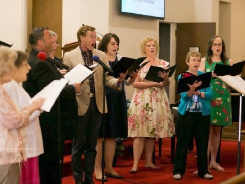 First Christian Church Charlotte Music Choir Group Singing for Easter