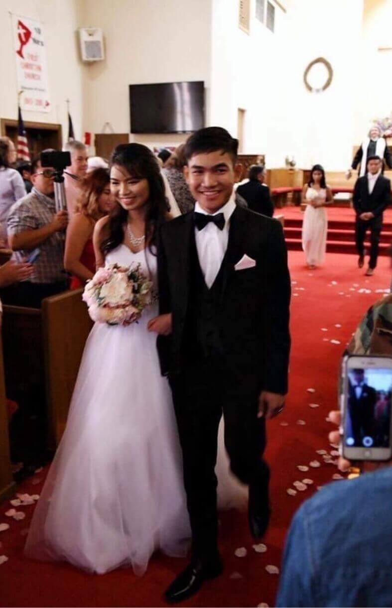 First Christian Church Charlotte Wedding Van Hoan